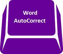 Word - autocorrect